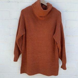 Free People cowl neck tunic sweater